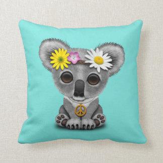 Cute Baby Koala Hippie Throw Pillow