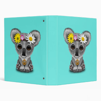 Cute Baby Koala Hippie Vinyl Binders