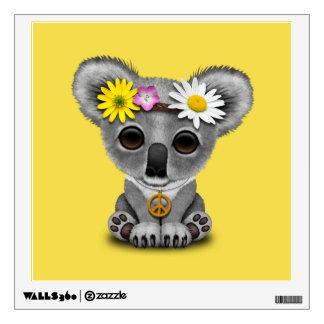 Cute Baby Koala Hippie Wall Decal