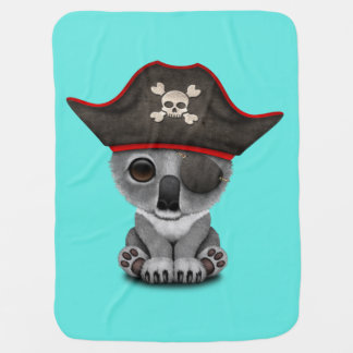 Cute Baby Koala Pirate Baby Blanket