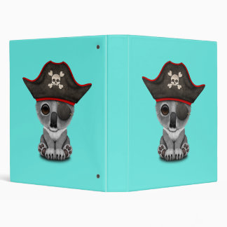 Cute Baby Koala Pirate Binders