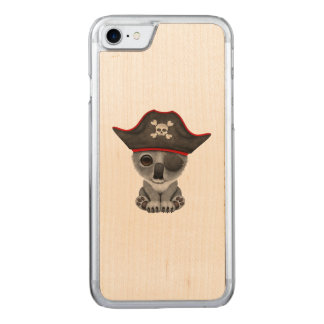 Cute Baby Koala Pirate Carved iPhone 8/7 Case