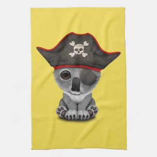 Cute Baby Koala Pirate Kitchen Towel