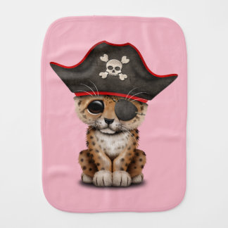 Cute Baby Leopard Cub Pirate Burp Cloth