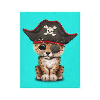 Cute Baby Leopard Cub Pirate Canvas Print