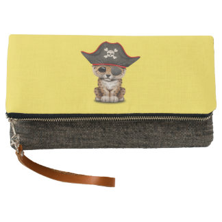 Cute Baby Leopard Cub Pirate Clutch