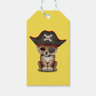 Cute Baby Leopard Cub Pirate Gift Tags
