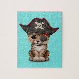 Cute Baby Leopard Cub Pirate Jigsaw Puzzle