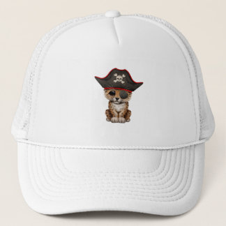 Cute Baby Leopard Cub Pirate Trucker Hat