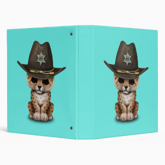 Cute Baby Leopard Cub Sheriff 3 Ring Binder