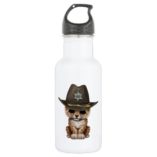 Cute Baby Leopard Cub Sheriff 532 Ml Water Bottle