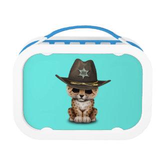 Cute Baby Leopard Cub Sheriff Lunch Box