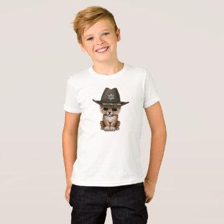 Cute Baby Leopard Cub Sheriff T-Shirt