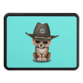 Cute Baby Leopard Cub Sheriff Trailer Hitch Cover