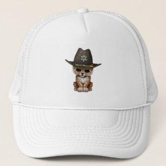 Cute Baby Leopard Cub Sheriff Trucker Hat