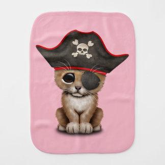 Cute Baby Lion Cub Pirate Burp Cloth