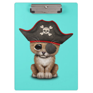 Cute Baby Lion Cub Pirate Clipboard