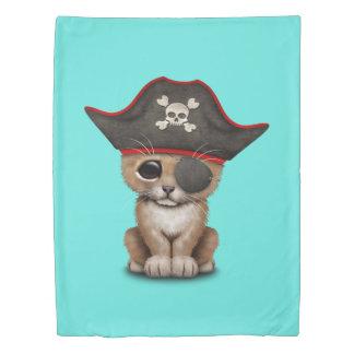 Cute Baby Lion Cub Pirate Duvet Cover
