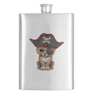 Cute Baby Lion Cub Pirate Hip Flask