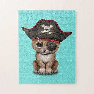 Cute Baby Lion Cub Pirate Jigsaw Puzzle