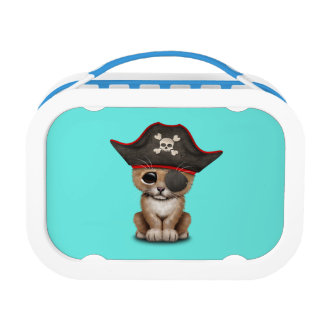 Cute Baby Lion Cub Pirate Lunch Box