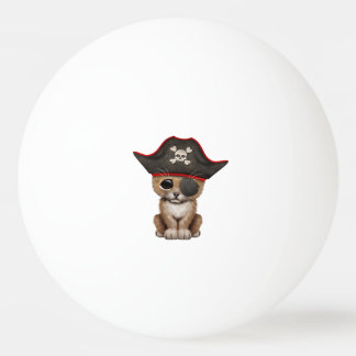 Cute Baby Lion Cub Pirate Ping Pong Ball