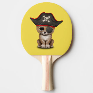 Cute Baby Lion Cub Pirate Ping Pong Paddle