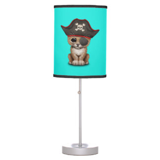 Cute Baby Lion Cub Pirate Table Lamp