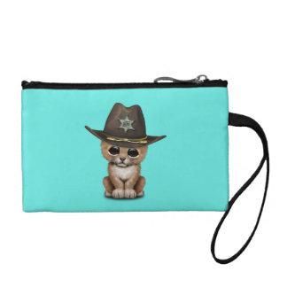 Cute Baby Lion Cub Sheriff Coin Wallets