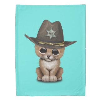 Cute Baby Lion Cub Sheriff Duvet Cover