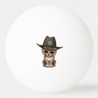 Cute Baby Lion Cub Sheriff Ping Pong Ball