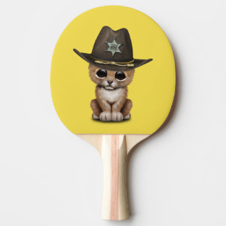 Cute Baby Lion Cub Sheriff Ping Pong Paddle