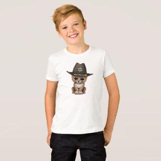 Cute Baby Lion Cub Sheriff T-Shirt