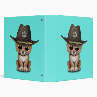Cute Baby Lion Cub Sheriff Vinyl Binders