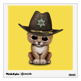 Cute Baby Lion Cub Sheriff Wall Sticker