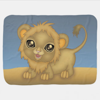 Cute Baby Lion Swaddle Blanket