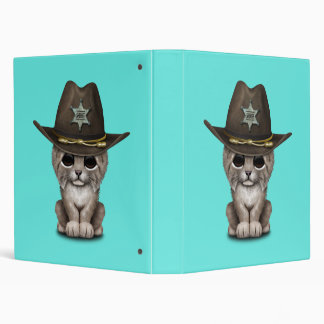 Cute Baby Lynx Cub Sheriff 3 Ring Binders