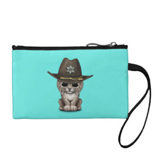 Cute Baby Lynx Cub Sheriff Coin Purse