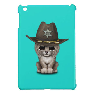 Cute Baby Lynx Cub Sheriff Cover For The iPad Mini