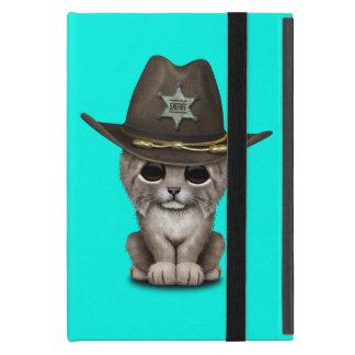 Cute Baby Lynx Cub Sheriff Covers For iPad Mini