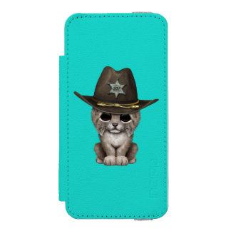 Cute Baby Lynx Cub Sheriff Incipio Watson™ iPhone 5 Wallet Case