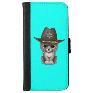Cute Baby Lynx Cub Sheriff iPhone 6 Wallet Case