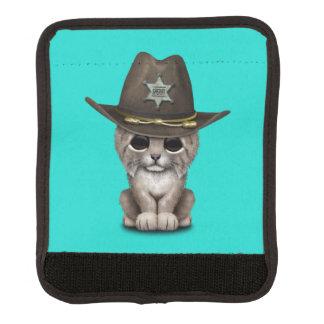 Cute Baby Lynx Cub Sheriff Luggage Handle Wrap