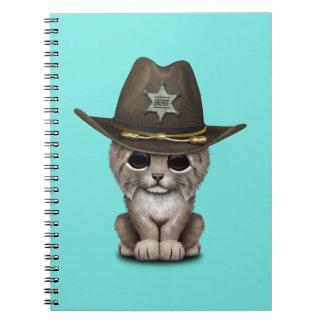 Cute Baby Lynx Cub Sheriff Notebooks