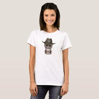 Cute Baby Lynx Cub Sheriff T-Shirt