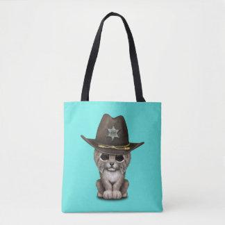 Cute Baby Lynx Cub Sheriff Tote Bag