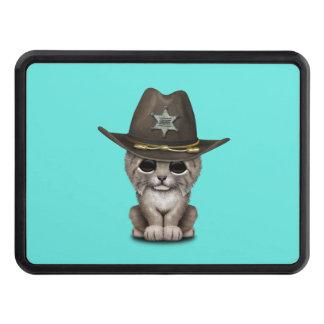 Cute Baby Lynx Cub Sheriff Trailer Hitch Cover