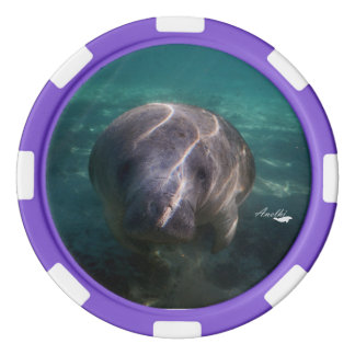 Cute baby manatee poker chip