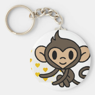 Cute baby monkey! keychain