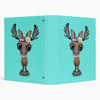 Cute Baby Moose Hippie Binders